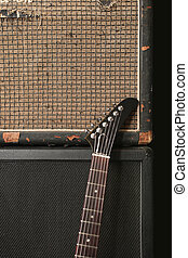 Guitar and old amplifier