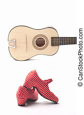 guitar and shoe