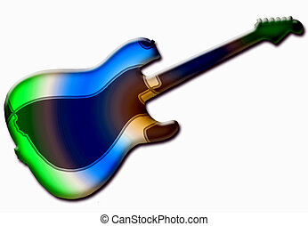 Guitar Background - symbol of today