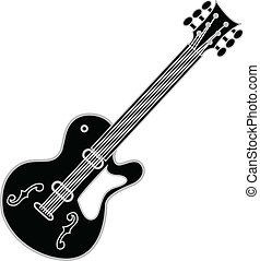 Guitar Black - Black rock and roll, blues or heavy metal ...
