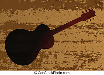 Guitar Brand - A background of a plank of wood with grain...
