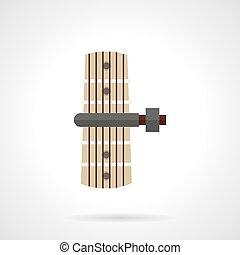 Guitar capo flat color vector icon