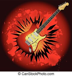 Guitar Cartoon Explosion