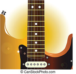 Guitar Close Up - A traditional solid body electric guitar...