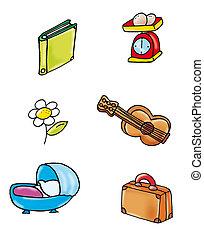 guitar, cots, scales