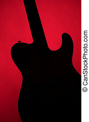 Guitar Electric Gold Isolated On White - A guitar in...