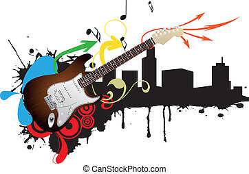 guitar electric skyline