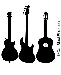 guitar electro acoustic silhouette