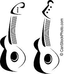guitar - Vector stylized guitar - illustration, design...
