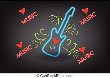Guitar floral music