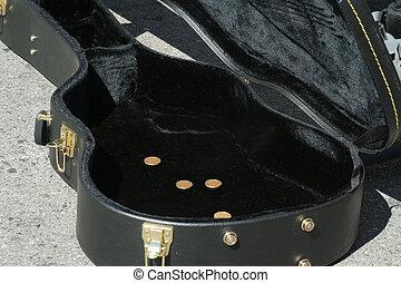 guitar geval, bedelaar