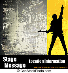Guitar Gig Flyer - A vector flyer for a rock concert