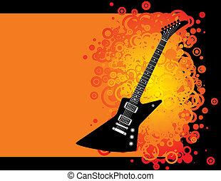 Guitar grunge background