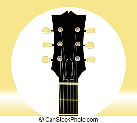 Guitar Headstock And Tuners - A traditional guitar headstock...