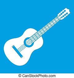 Guitar icon white