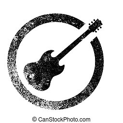 Guitar Ink Stamp