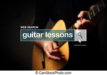 Guitar lessons web search box glossary term