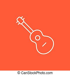 Guitar line icon. - Guitar line icon for web, mobile and...