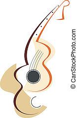 Guitar logotype - Stylized vector illustration. Guitar icon....
