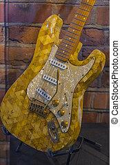 Guitar made of amber