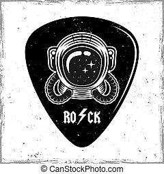 Guitar mediator with astronaut vector design