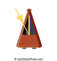 guitar metronome on white background