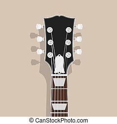 guitar neck head with shadow flat style illustration rock blues concept eps vector_csp43770843 blank guitar neck with chord markers a blank guitar neck with