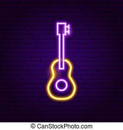 Guitar Neon Sign