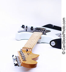 Guitar on a white background with