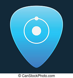 Guitar pick icon - Illustration of an isolated guitar pick