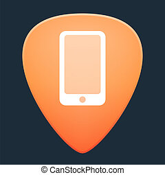 Guitar pick with a smartphone