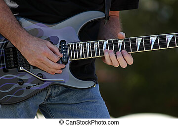 Rock and Roll - Guitar Player in Rock and Roll Band