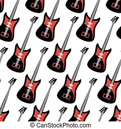 Guitar seamless pattern. Electric g