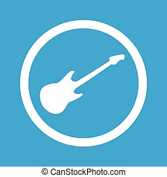 Guitar sign icon