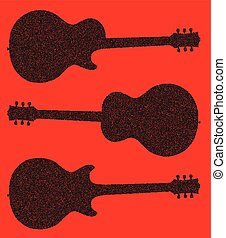 Guitar Silhouette Background