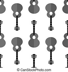 Guitar Silhouette Seamless Background