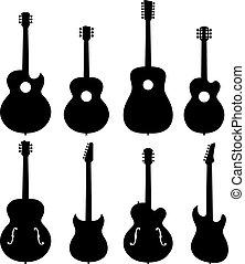 Guitar Silhouettes Set