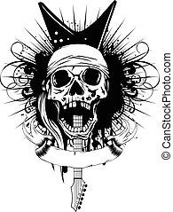 guitar skull