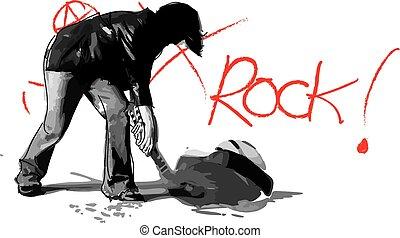 Guitar Smasher - A sketch of me smashing my guitar