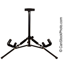 Guitar stand isolated on white