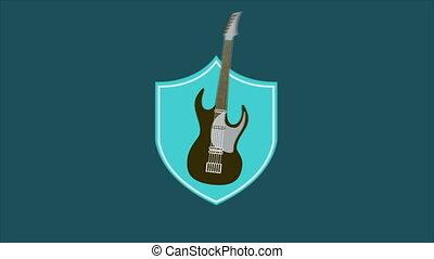 Guitar - Electric guitar, Animation, HD 1080