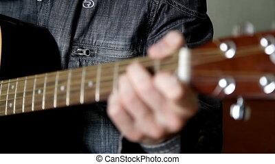 guitar - man play in guitar