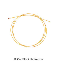 Guitar String - Single guitar string isolated on white...