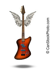 Guitar winged