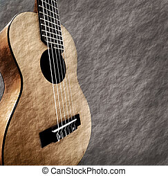 Guitar with grunge background.