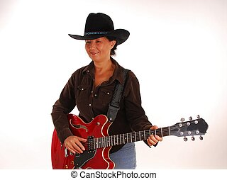 Guitar Woman Nine - Woman playing a guitar