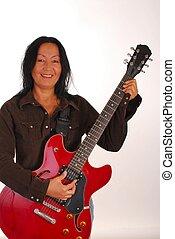 Guitar Woman Six