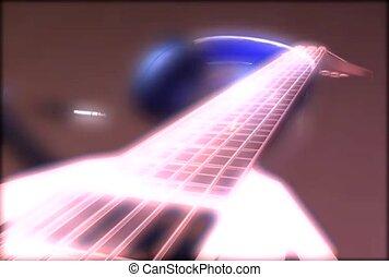guitare, écouteurs