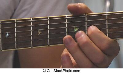 guitare, acoustique, guitariste, jouer