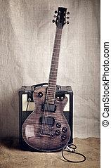 guitare, amplificateur, électrique